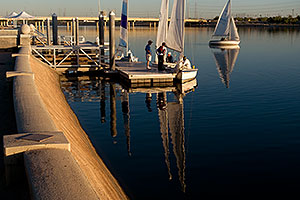 Sailboats at Tempe Town Lake