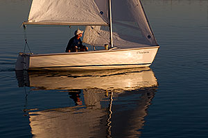 Arizona Yacht Club Sailboat at Tempe Town Lake