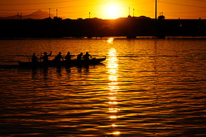 Canoers at Tempe Town Lake