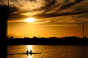 Scullers at Tempe Town Lake