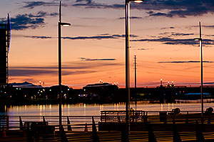 Tempe Town Marina at sunset at Tempe Town Lake