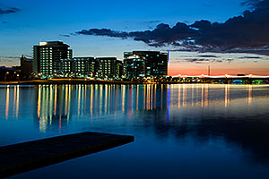 Sunset at North Bank Boat Ramp at Tempe Town Lake