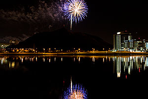 APS Fantasy of Lights opening night fireworks over Tempe Town Lake