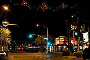 Night at Scottsdale Road and Main St