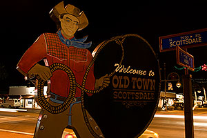 Welcome to Old Town Scottsdale - intersection of Scottsdale Road and Main