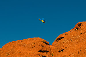 Helicopter over Papago Park
