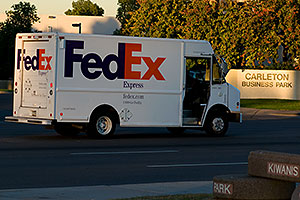 Fedex on delivery by Kiwanis Park