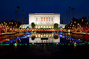 Mesa Temple Garden Christmas Lights Display