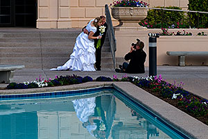 Bride and Groom at Mesa Arizona Temple