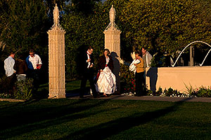 Bride and Groom at West side of Mesa Arizona Temple