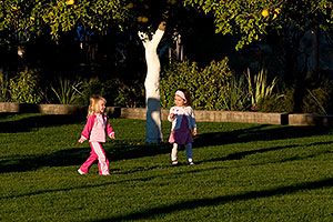 Kids at the West side of Mesa Arizona Temple