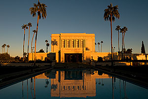 West side reflection of Mesa Arizona Temple