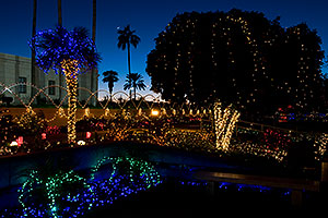 Christmas decorations by Mesa Arizona Temple