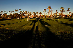 Caravan and shadows by Mesa Arizona Temple