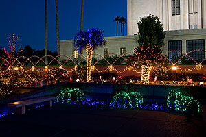 Chrismas lights by Mesa Arizona Temple