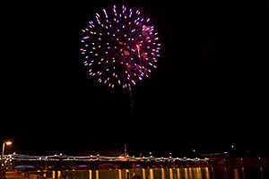 New Year`s Fireworks at Tempe Town Lake