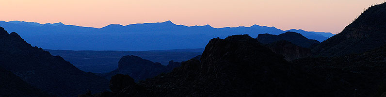 After sunset in Superstitions
