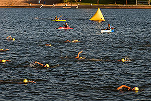 00:42:12 - Swimmers at Nathan Triathlon