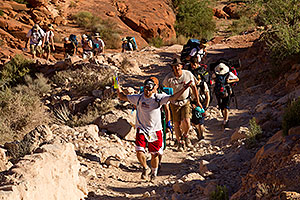Hikers along Havasupai Trail