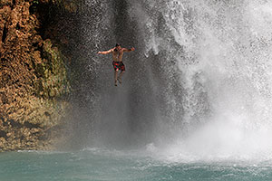 People at Havasu Falls