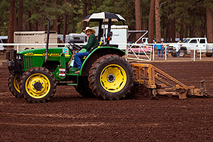 Preparing the field for NAHA event in Flagstaff