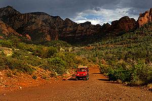Red Jeep in Sedona