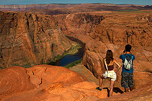 People at Horseshoe Bend of the Colorado River