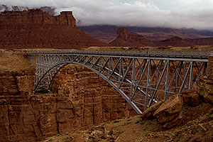 Navajo Bridge over the Colorado River, at Marble Canyon
