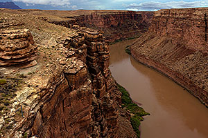 View of Colorado River from Navajo Bridge at Marble Canyon