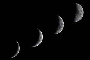 Moon phases across 4 consecutive days