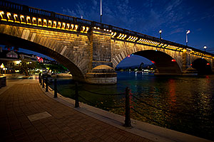 Twilight at the London Bridge at Lake Havasu