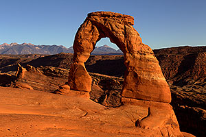 Evening at Delicate Arch in Arches National Park