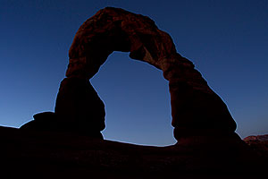 Delicate Arch before sunrise in Arches National Park