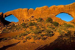 South and North Windows in Arches National Park