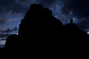 Evening clouds by Garden of Eden in Arches National Park