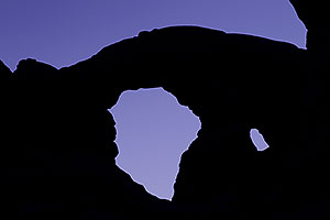 Silhouette of Turret Arch in Arches National Park