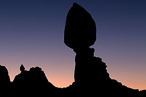 Balanced Rock silhouete in Arches National Park