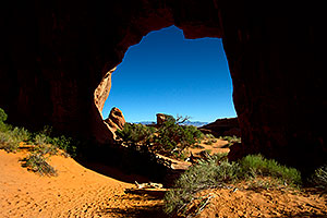 Pine Tree Arch in Devils Garden in Arches National Park