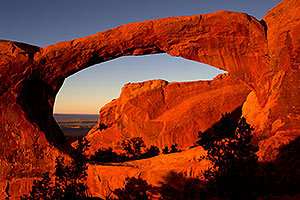 Double O Arch in Arches National Park