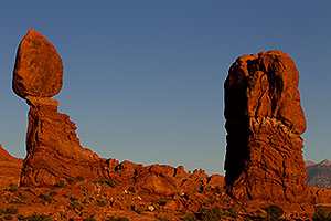 View of Balanced Rock in Arches National Park
