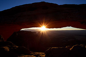 Mesa Arch at sunrise in Canyonlands National Park