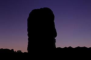 Rock silhouette in Arches National Park