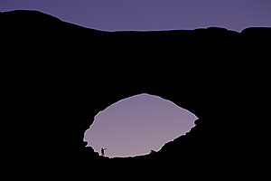 Morning Silhouette of North Window in Arches National Park