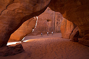 Sandune Arch in the morning in Arches National Park