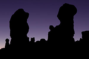 Rock Silhouettes in Garden of Eden in Arches National Park