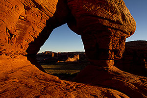 View from Courthouse Arch in Arches National Park