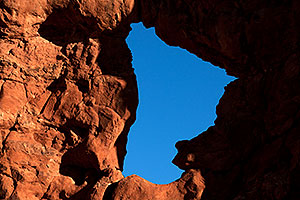 View of Serpentine Arch in Garden of Eden in Arches National Park