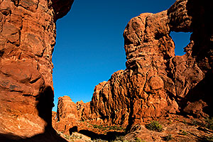 View of Garden of Eden near Serpentine Arch in Arches National Park