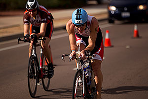 04:03:16 - #41 Stijn Demeulemeester [BEL] cycling for eventual 20th place in 09:05:24 - Ironman Arizona 2010