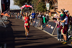 08:35:13 - #55 Chrissie Wellington [1st,USA,08:36:13] finishing first - Ironman Arizona 2010